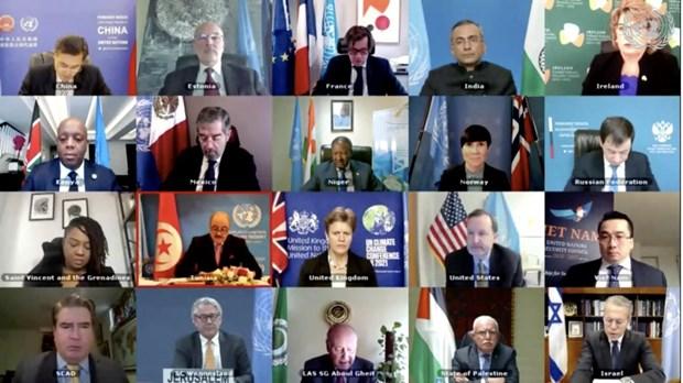 联合国安理会一致同意寻找长期、全面、公平措施解决巴勒斯坦问题 hinh anh 1