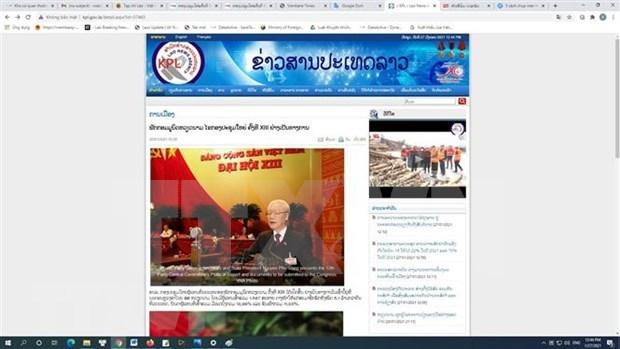 老挝媒体深度报道越共十三大开幕式 hinh anh 1