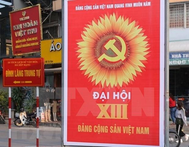 越南人民对越共十三大寄予厚望 hinh anh 1