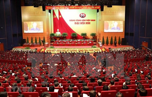 世界各国政党、组织、外交使团和国际友人继续向越共十三大致贺电和贺信 hinh anh 1