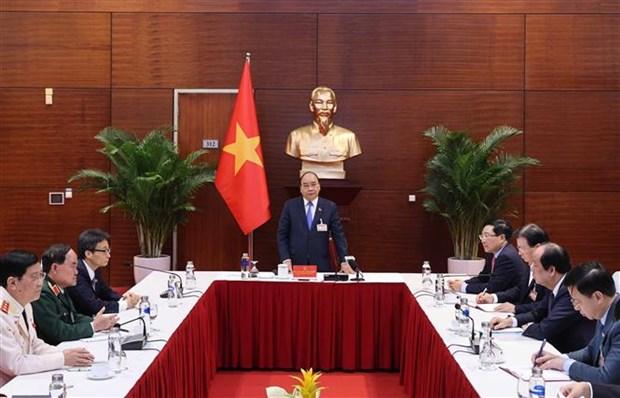 越南政府总理阮春福:采取有力的财政措施 全力以赴抗击疫情 hinh anh 1