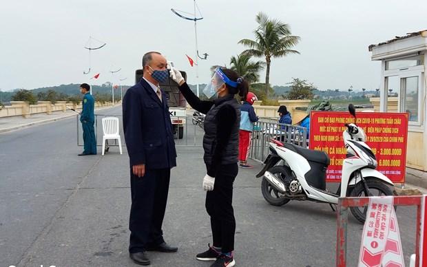 新冠肺炎疫情:广宁省与海阳省携手开展密切接触者追踪排查工作 hinh anh 1