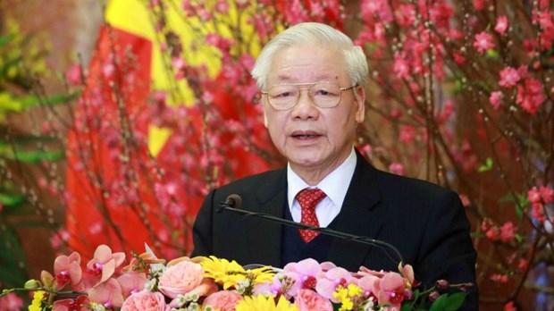 越南党和国家领导人向非洲联盟轮值主席致贺电 hinh anh 1
