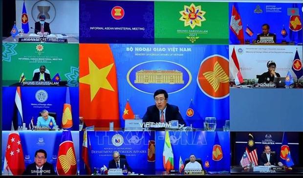 东盟外长非正式会议发表主席声明 hinh anh 1