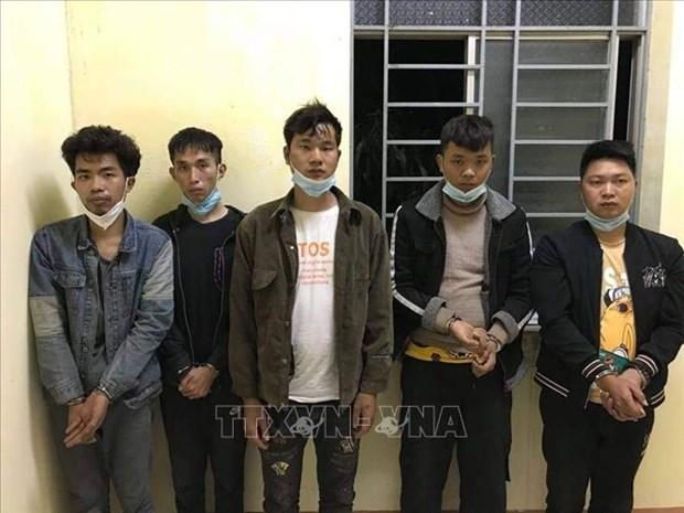 隆安省:逮捕非法出入越南国境的5名中国人 hinh anh 1