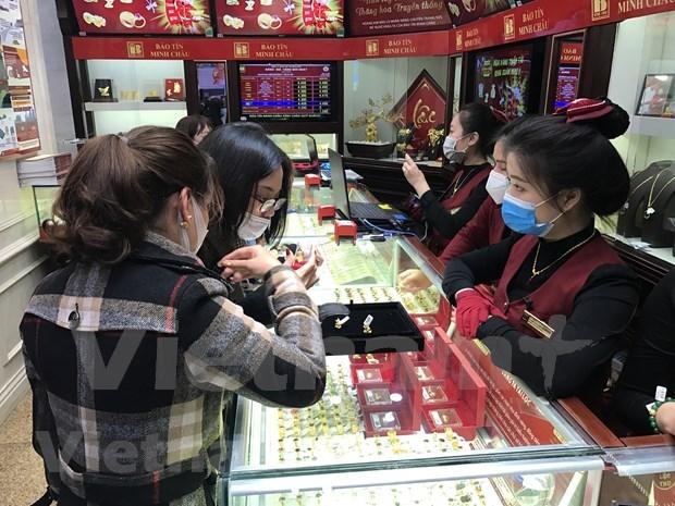 今日越南国内市场黄金价格每两上调25万越盾 hinh anh 1