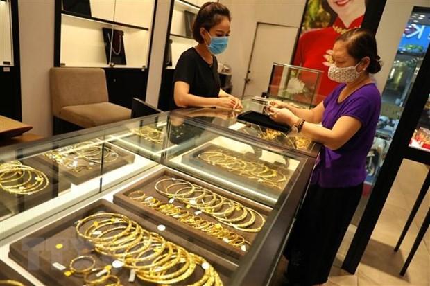 今日越南国内市场黄金价格每两下降5万越盾 hinh anh 1