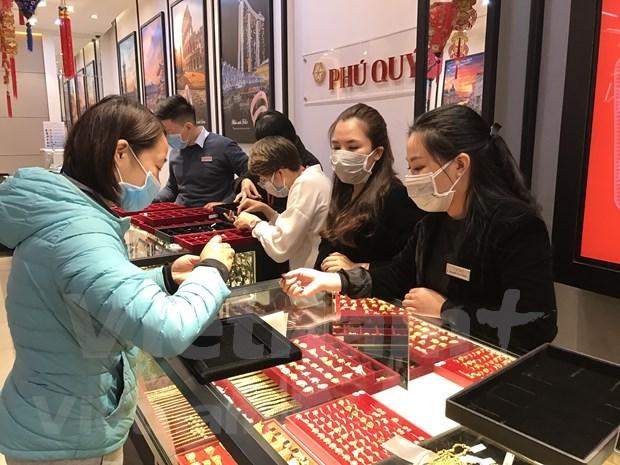 今日上午越南国内市场黄金价格保持稳定 hinh anh 1