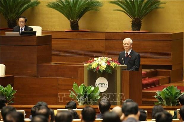 第十四届国会第十一次会议:为国家的快速和可持续发展作出贡献 hinh anh 1