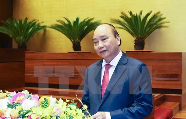 阮春福总理发表关于经济社会发展十年战略的专题报告 hinh anh 1