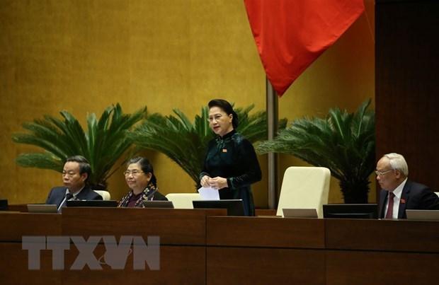 国会免去第十四届国会主席和国家选举委员会主席职务 hinh anh 1