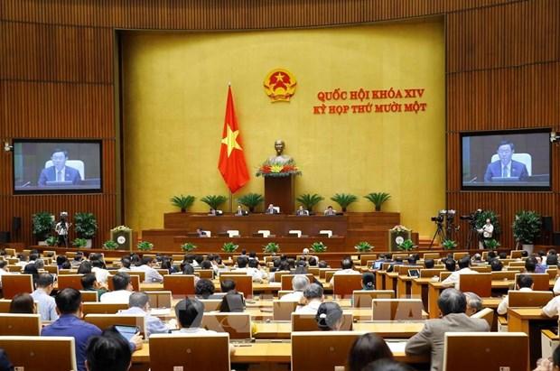越南第十四届国会第十一次会议:提请国会批准任命部分政府副总理、部长和政府其他成员的名单 hinh anh 1
