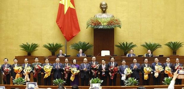 国会批准任命12个部委最高领导人 hinh anh 1