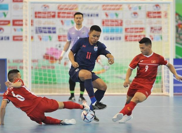 越南与泰国争夺2021年世界室内足球锦标赛入场券 hinh anh 1