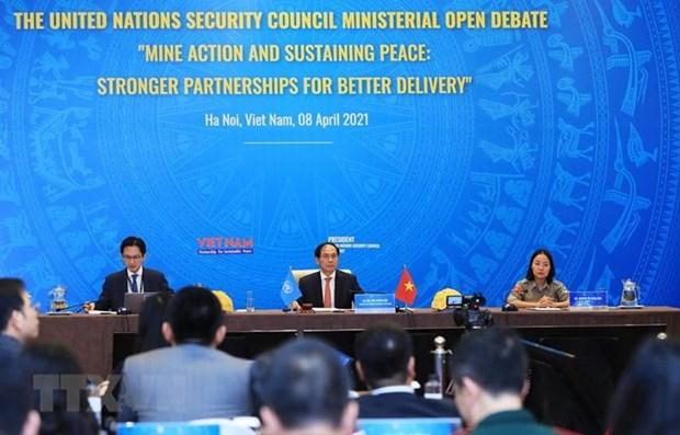 越南与联合国安理会:国际社会高度评价越南在4月份所主持召开的各场公开辩论会 hinh anh 1