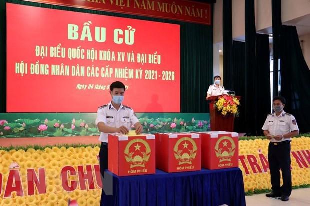 为长天在海上工作提前举行国会和议会代表选举 hinh anh 1