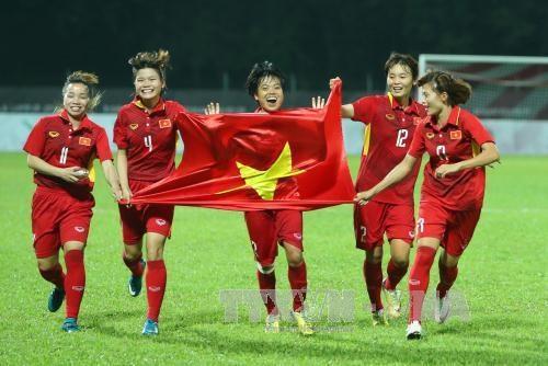 越南女子足球队在2021年第一季度世界足球排名上上升了1位 hinh anh 1