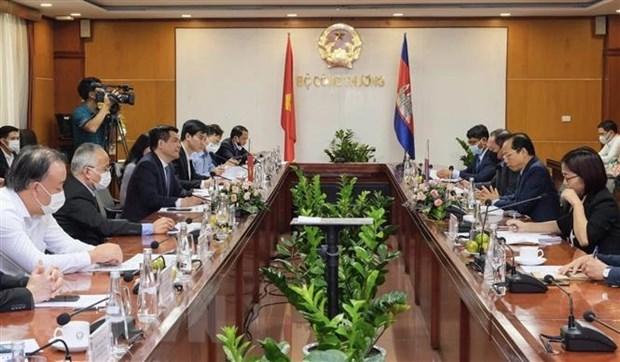 促进越南与柬埔寨的贸易、工业和能源合作 hinh anh 2