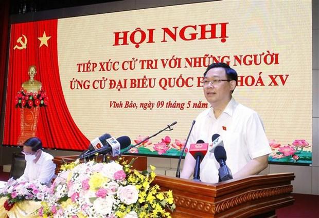 王廷惠在海防市开展选民接待活动 hinh anh 1