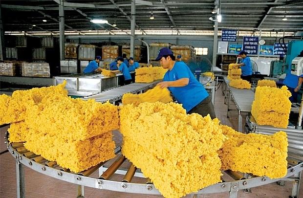 橡胶是2021年前四个月越南农林水产品出口的亮点 hinh anh 1