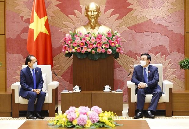 国会主席王廷惠会见柬埔寨驻越南大使查伊·纳芙斯 hinh anh 1