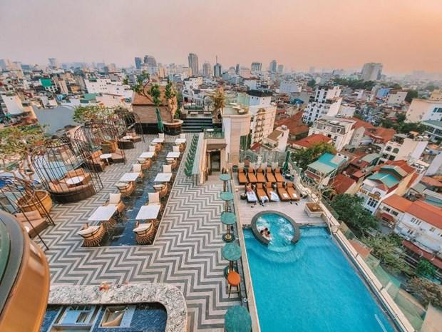 河内4家酒店跻身Tripadvisor2021最美酒店楼顶前25名 hinh anh 3