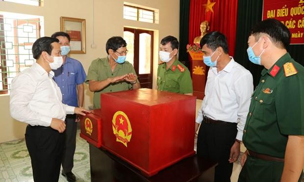 越南国会主席王廷惠主持全国换届选举工作视频会议 hinh anh 2
