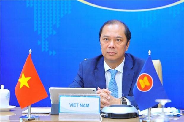 第27次东盟-中国高官磋商以视频形式举行 hinh anh 1