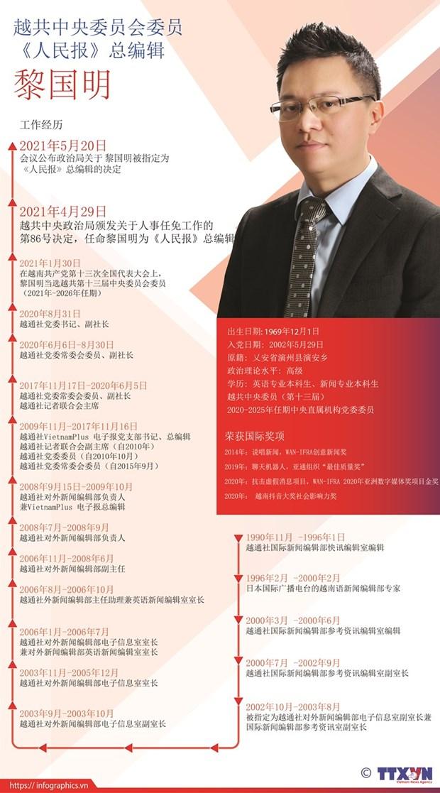 越通社副社长黎国明正式担任《人民报》总编辑 hinh anh 2