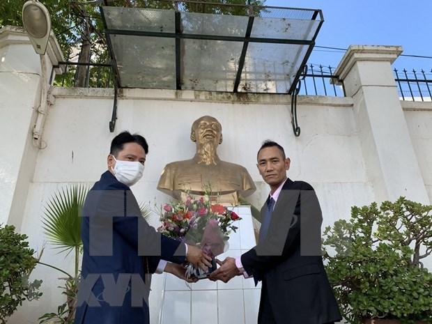 纪念胡志明主席诞辰131周年:越南驻阿尔及利亚和墨西哥大使馆缅怀主席明主席 hinh anh 1