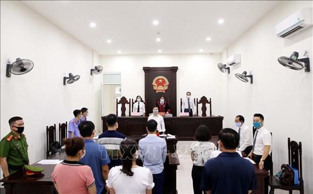 河内市人民法院对非法组织他人偷渡韩国案的8名被告人作出判决 hinh anh 1