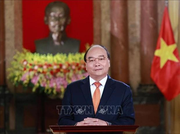 越南国家主席阮春福向越南预防自然灾害传统日75周年致贺信 hinh anh 1