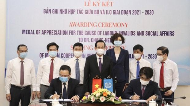 ILO与越南合作促进国际劳务标准和妥当就业 hinh anh 1
