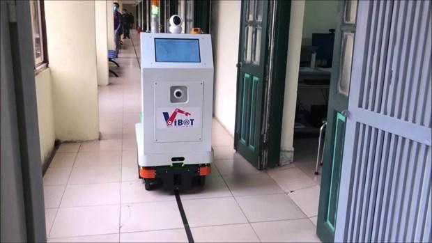 """医疗服务机器人在抗疫中""""大显身手"""" hinh anh 1"""