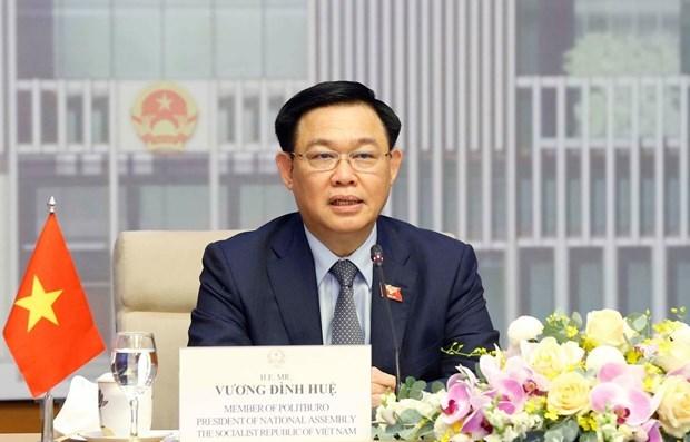 越南国会主席王廷惠与澳大利亚议会议长举行会谈 hinh anh 1