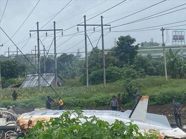 缅甸一架军用飞机失事 遇难人数多达12人 hinh anh 1