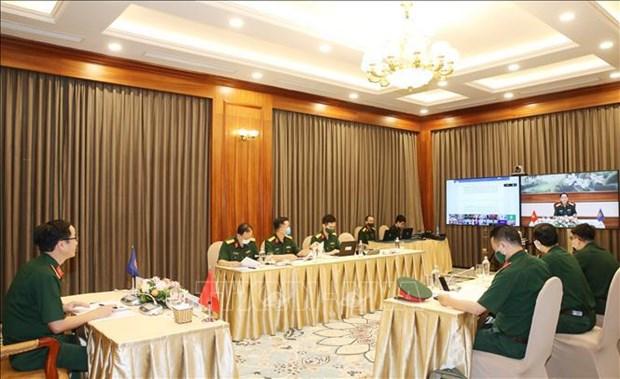 东盟国防高级官员工作组扩大会议以视频形式举行 hinh anh 1