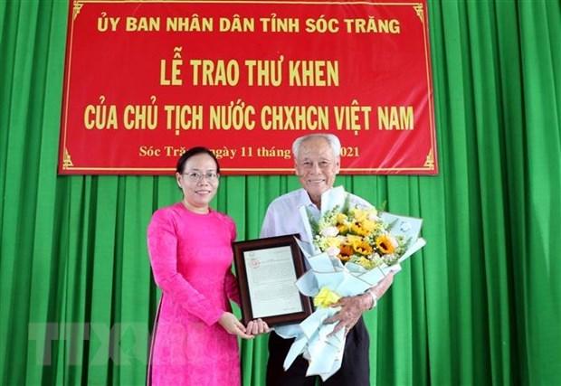 一位98岁高龄老人获国家主席表扬 hinh anh 1