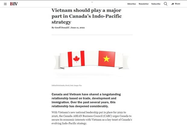 越南是加拿大在未来的重要伙伴 hinh anh 1