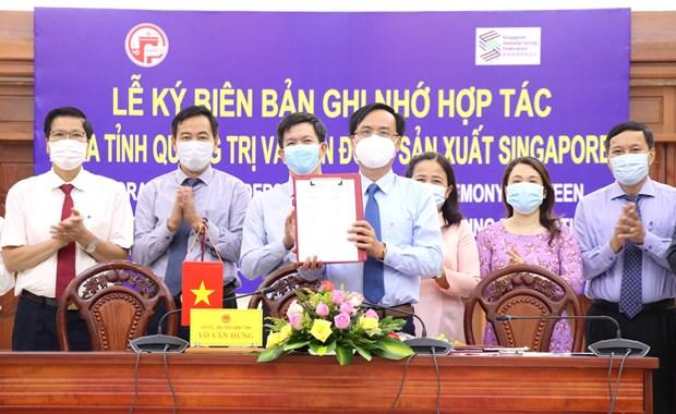 广治省同新加坡制造商总会合作 促进经济社会发展 hinh anh 1