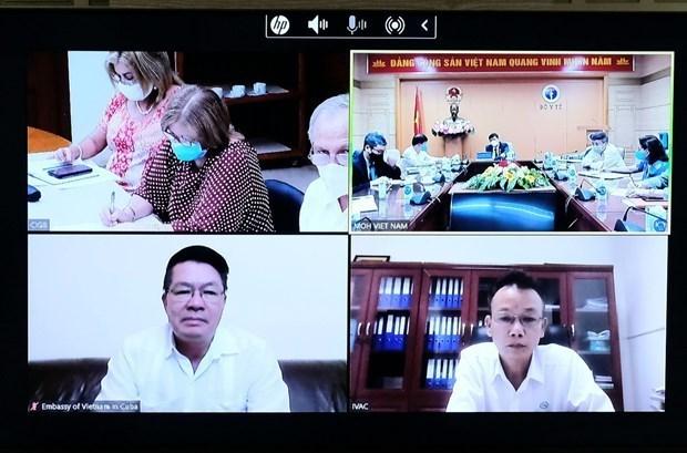 越南卫生部与古巴商讨新冠肺炎疫苗生产合作 hinh anh 1