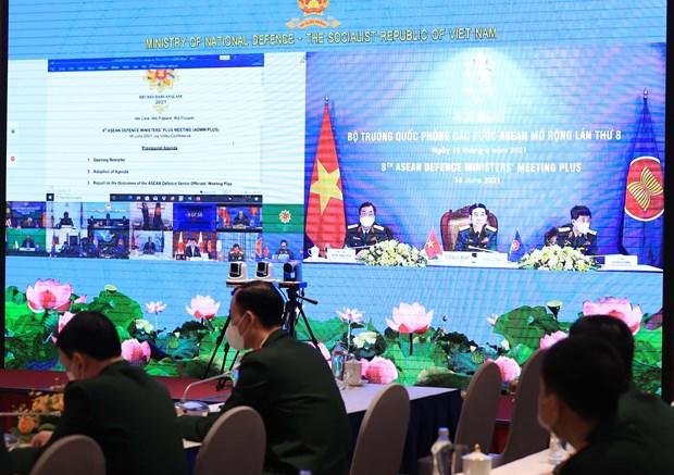 第八届东盟防长扩大会议以视频形式举行 hinh anh 2