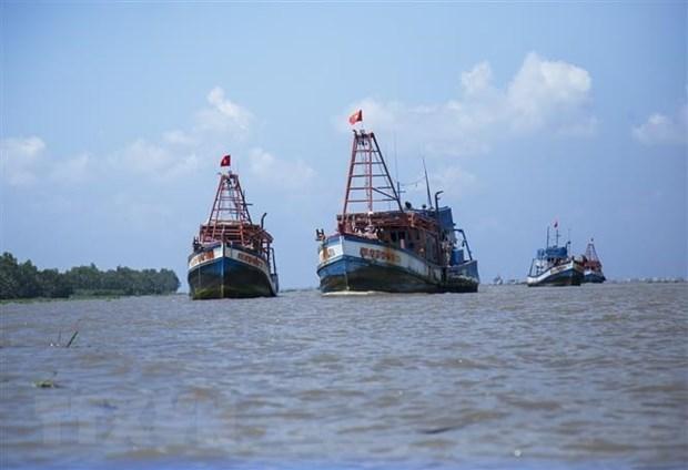 巴地头顿省发现将渔民从马来西亚运回越南的两艘船 hinh anh 1