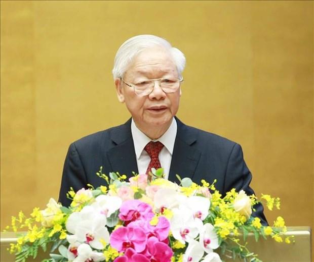 越共第十三届中央委员会第三次全体会议在河内隆重开幕 hinh anh 1