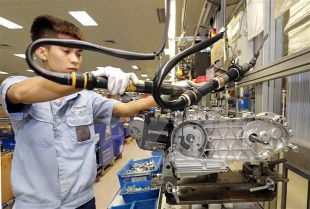 工业生产出现许多彩色 hinh anh 1