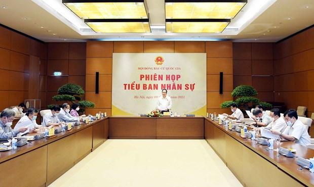 越南国家选举委员会人事小组召开第四次会议 hinh anh 1