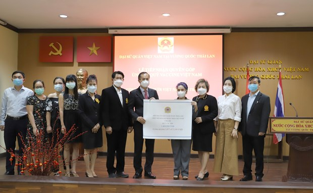 旅居泰国越南人为越南新冠疫苗基金会捐赠10多亿越盾 hinh anh 1