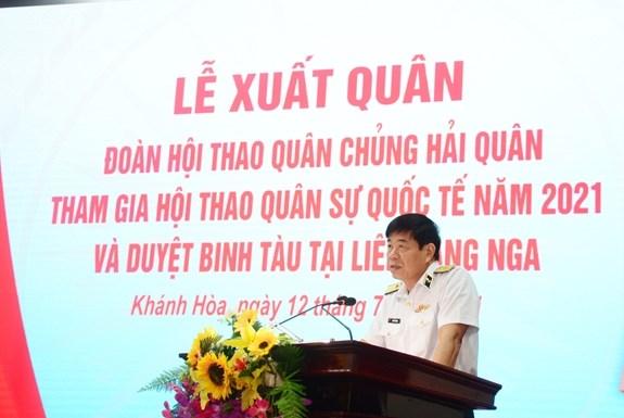越南人民海军代表团启程前往俄罗斯参加2021年国际军事比赛 hinh anh 2