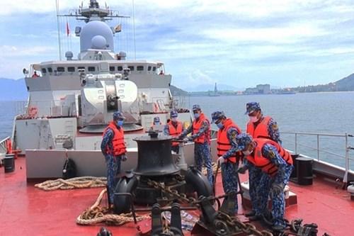 越南人民海军代表团首次参加国际军事比赛:在国际赛场上锤炼本领 hinh anh 7