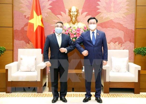 越南国会主席王廷惠会见菲律宾驻越大使梅纳多 hinh anh 1